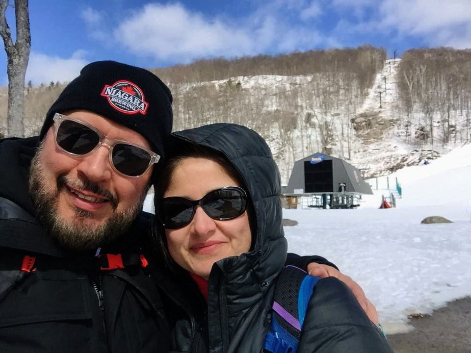 Claudia and Lalo at Mont Tremblant