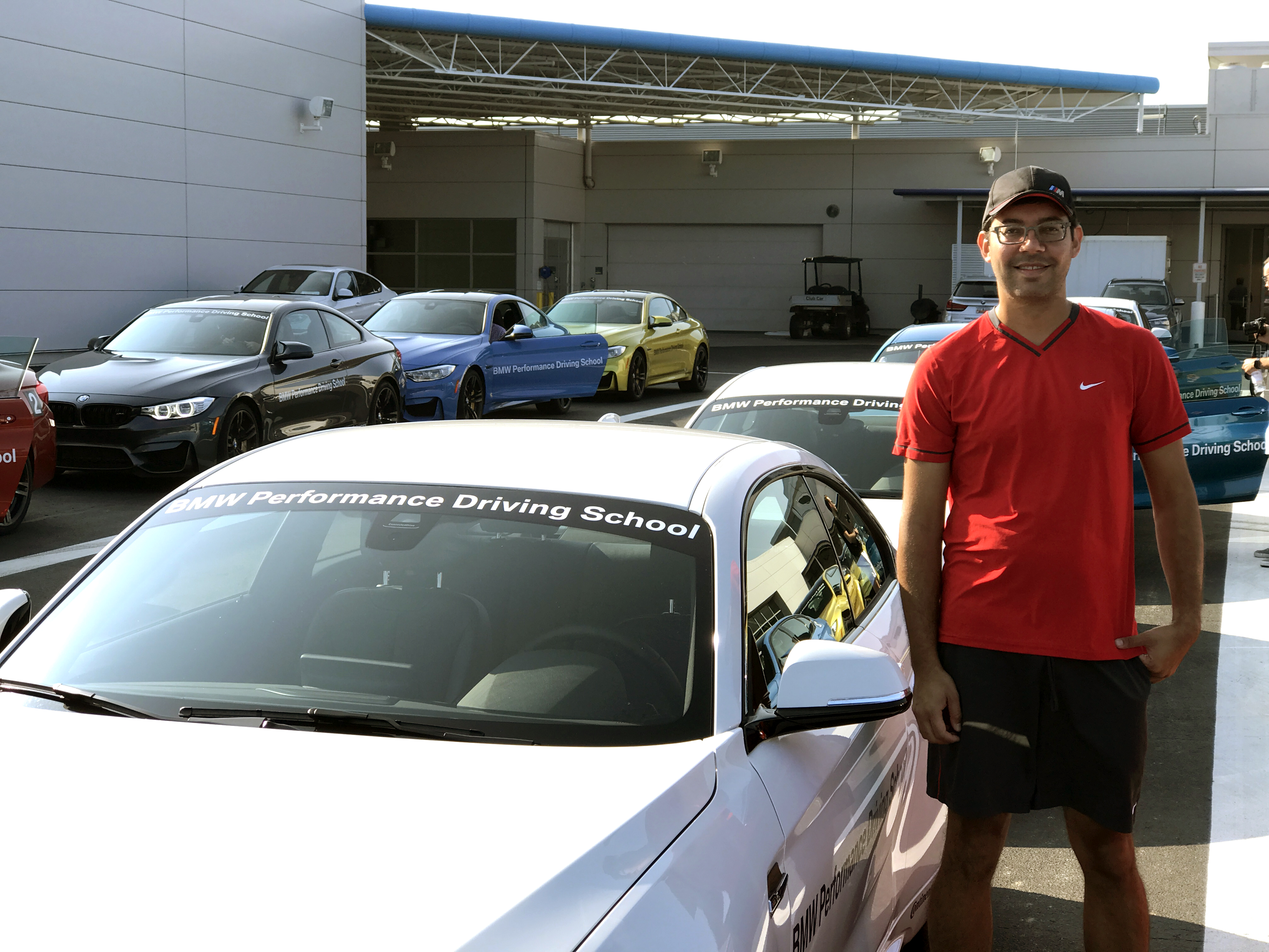 Aashim at the BMW performance driving school in Greenville, SC